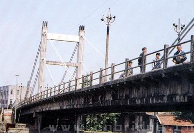 塔柱采用框架式结构和桩基础