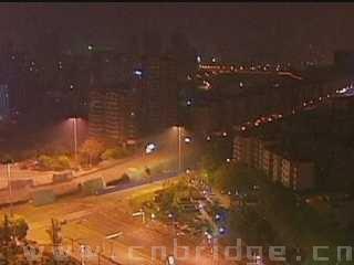 Bridge blown up in China