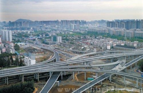 合肥徽州大道高架桥工程国庆前后可通车图片