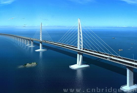 港珠澳大桥成功架设首片桥梁