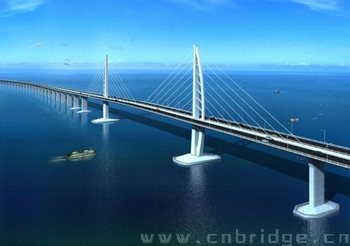 港珠澳大桥架设组合梁进入上部结构施工