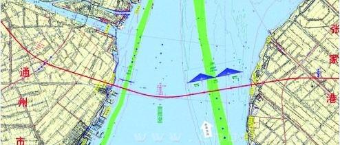 沪通铁路跨江大桥线路图-世界最大跨海公路铁路大桥月底开工