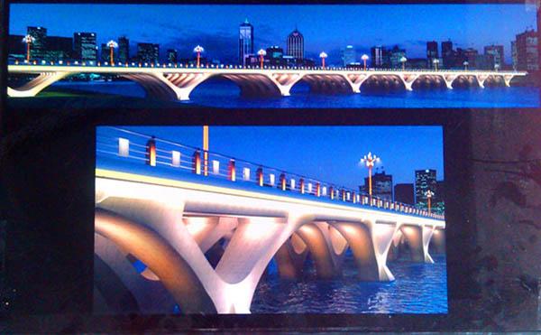 剧透新华桥亮化方案:亮化设计与其他桥梁不同 外观绚丽多彩