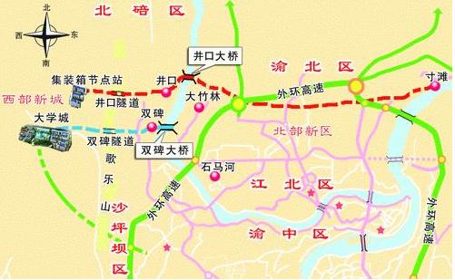 大竹林大桥规划出炉 区域摇变重庆北部门户