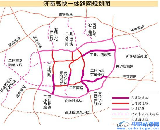 """城市总体规划,城区将构筑""""四横六纵""""的快速路和高速"""