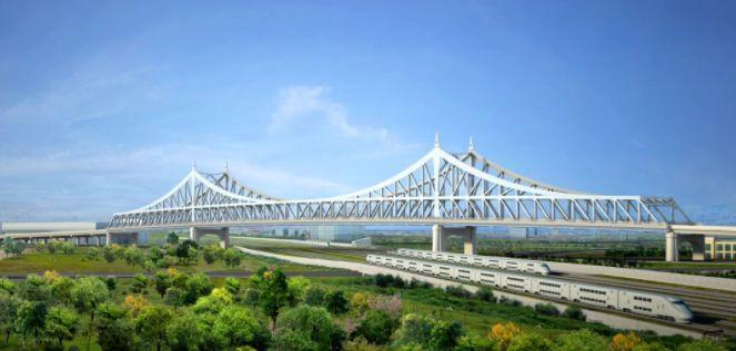 世界首座上跨既有高速铁路的上加劲连续钢桁梁桥预计本月开工 - 路桥资讯-桥梁要闻、会展报告、路桥政策-土木资料网 -